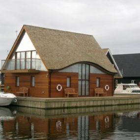 Modern Boat House in Norfolk, UK – Ferry Boatyard House by LSI Architect