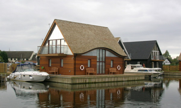Norfolk Boatyard Home 1 Modern Boat House In UK Ferry By LSI