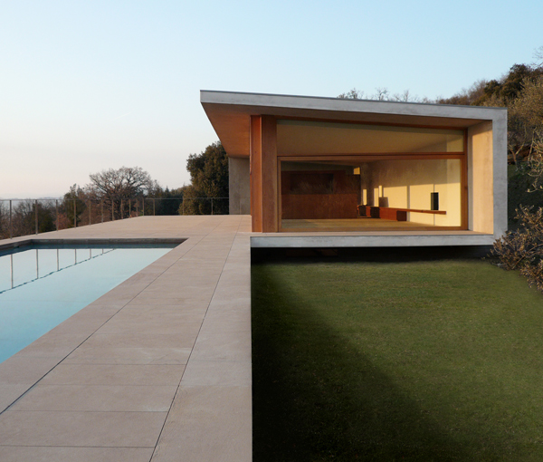observatory house 4 Sandstone House Design   a European style house overlooking Italian countryside