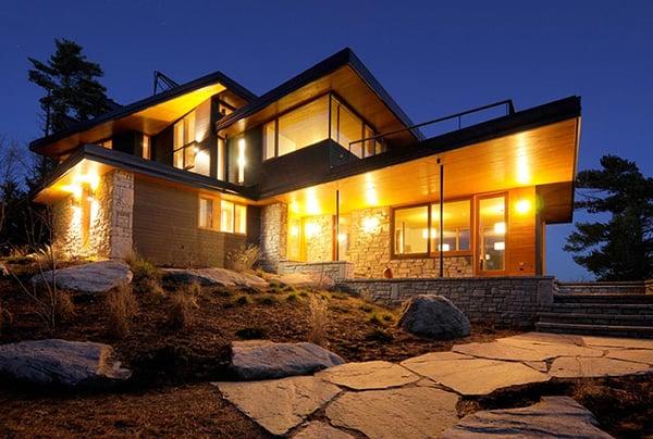 ontario eco house altius architecture muskoka 1 Ontario Eco House Operates Off the Grid
