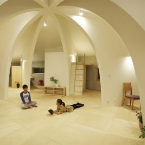 Open-Concept Japanese Family Home With Domed Interior