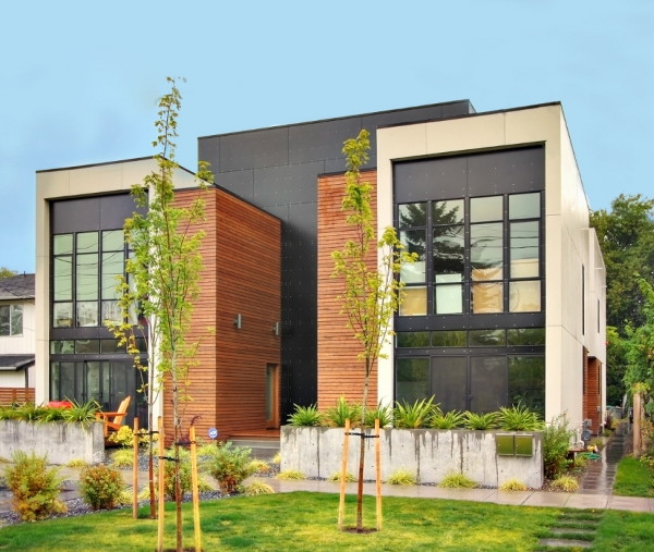 Luxury makes this modern multi unit home in seattle for Multi unit house plans