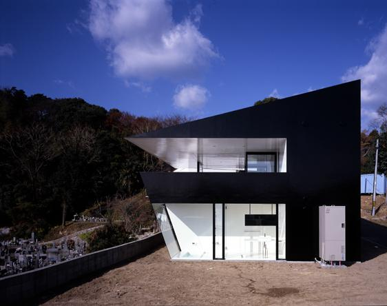 otake house 4 Japanese Mountain House   unusual mountain house plans with open concept