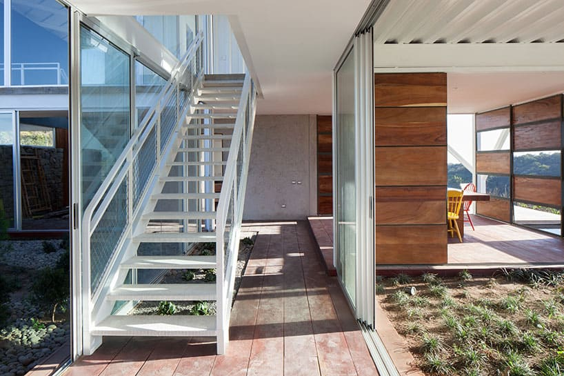 View in gallery outdoor-living-house-under-geometric-canopy-11-stairs. & Outdoor Living House Under Geometric Canopy