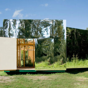 Outdoor Pavilion Design with Mirrors