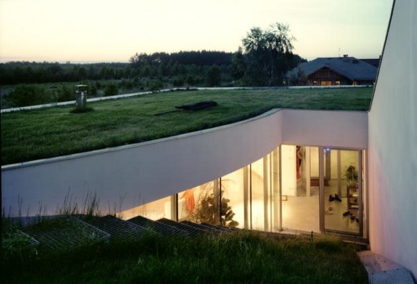 outrial residence 1 Underground House by Polish Architecture Firm