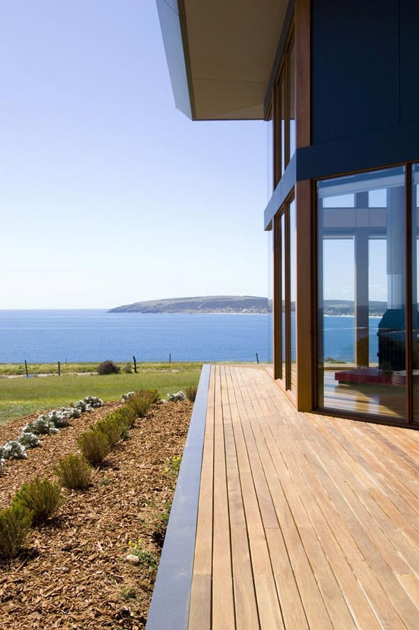 Panoramic house plan on australian coast for Panoramic view house plans