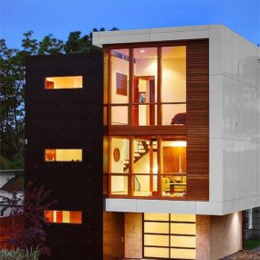 Rich Woods, Gleaming Glass at the 12th + John Residence Pb Elemental Architecture