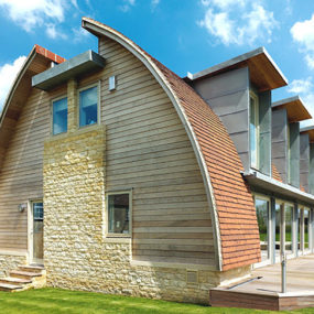 Curved Roof House Plan makes a Stylish Eco Statement