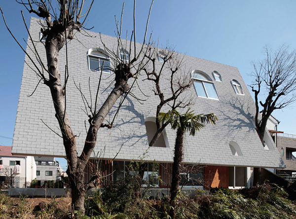 Japanese House with Steep Pitched Roof