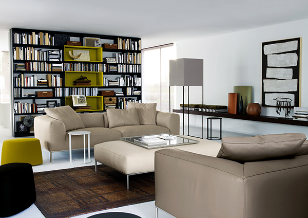 Modern prefabricated home showcases high end furniture for High end kitchen stores