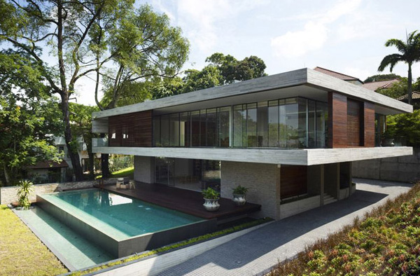 Platform Deck House By Singapore Architecture Firm