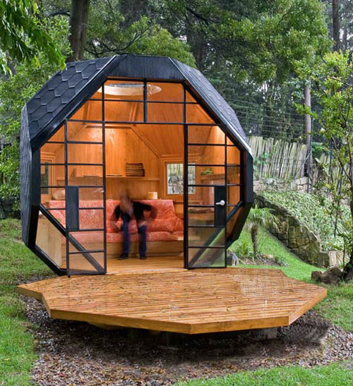 polyhedron shaped playhouse 1 Small Backyard Playhouse for Inspired Kids and Adults Alike
