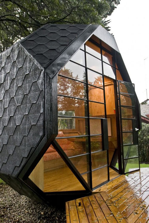 polyhedron shaped playhouse 2 Small Backyard Playhouse for Inspired Kids and Adults Alike