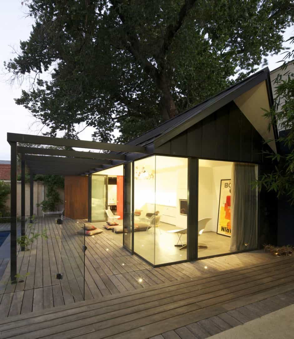 Posh pool house with glass walls | Modern House Designs on Glass House Design Ideas  id=18740