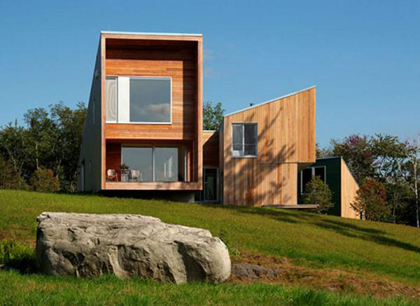 putney mountain residence 1 Modern Cedar House in Vermont Mountains