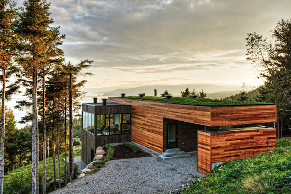 View In Gallery Quebec Cottage Home Woods 1 Clad And Surrounded By