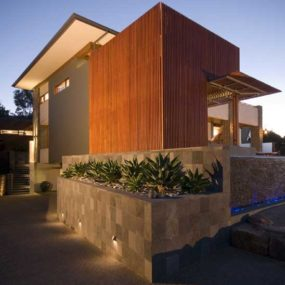 Modern House Design Built of Eco-Friendly Radial Timber