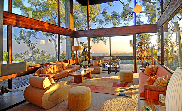 ray kappe residence 2 Luxury Glass Home in Los Angeles with valley views, for sale for $4.5 million