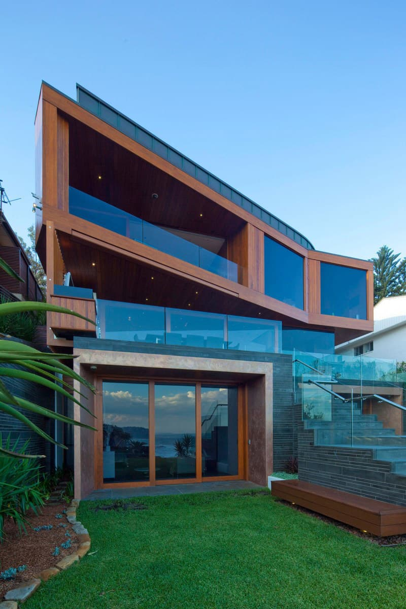 Glass Wooden House Designs