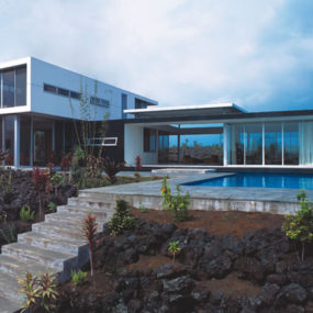 Hawaiian House built on lavaflow from nearby active volcano!