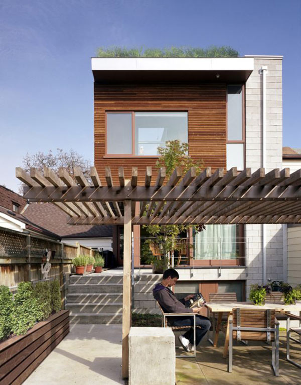 Rooftop garden home design in toronto canada for House roof garden design