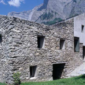 Rustic Mountain Architecture in Swiss Alps