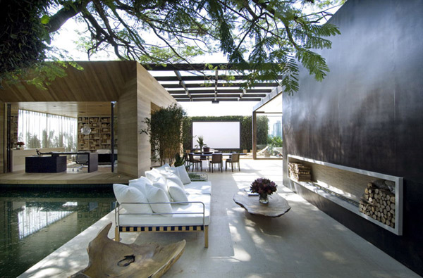 Sao paulo contemporary architecture modern indoor outdoor living loft - Plan de loft moderne ...