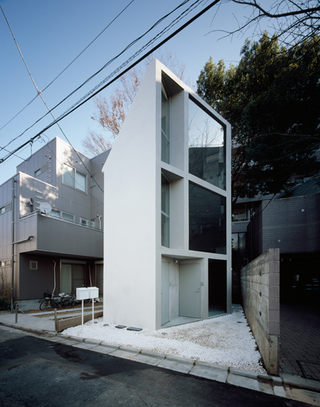 schemata architecture house 4 Small Home Design in Tokyo – angular house by Schemata Architecture