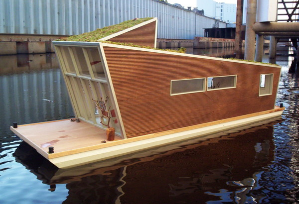 schwimmhaus 1 Prefab Floating Home with Sustainable Style in Germany – Das Schwimmhaus
