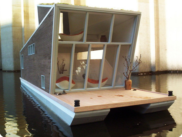 schwimmhaus 2 Prefab Floating Home with Sustainable Style in Germany – Das Schwimmhaus