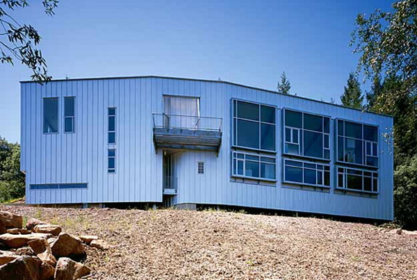 sculptors residence 1 Inspired Prefab Custom Home Design for a Sculptor in Santa Rosa, CA