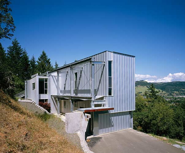 sculptors residence 2 Inspired Prefab Custom Home Design for a Sculptor in Santa Rosa, CA