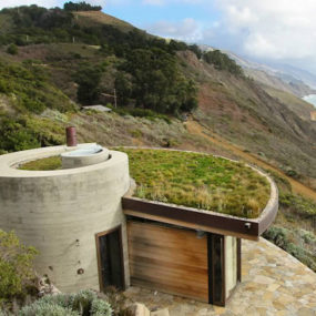 Seaside House Designs, buried into the hillside
