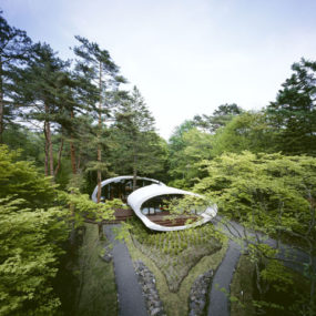 Futuristic Home in Karuizawa, Japan by Artechnic Architects