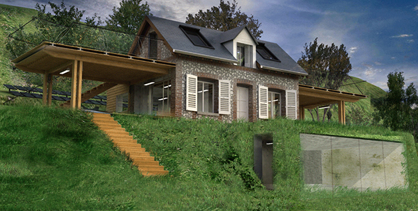 Eco house design is heavenly complete with wings Shelter house plans