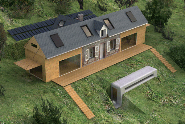 Eco house design is heavenly complete with wings for Eco house designs