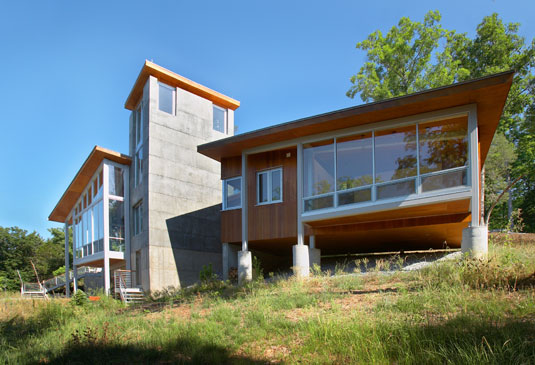 shenandoah retreat house 2 Modern Retreat on Virginia's Shenandoah River