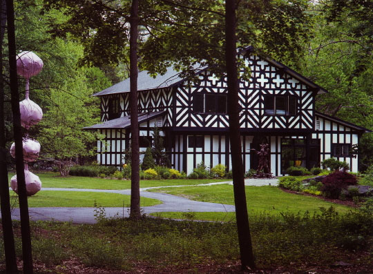 shock tudor 1 Richard Woods design   right out of a storybook house in Woodstock, New York