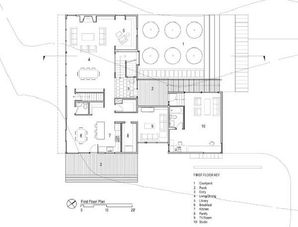 Simple contemporary courtyard house plan that you want for Old world house plans courtyard