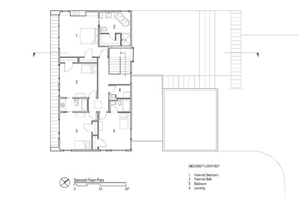 simple contemporary courtyard house plan dan hisel 12 - Simple Modern House Plans