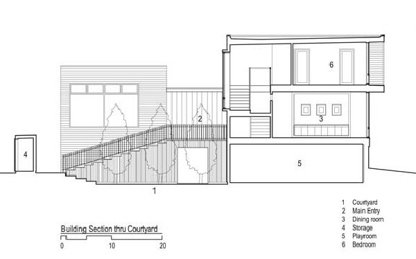 simple contemporary courtyard house plan dan hisel 6