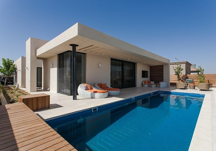 simple pool family home in israel rh trendir com