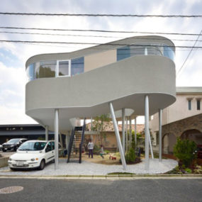 "Sky High House Plans: ""Bird's Nest House"" in Hiroshima"