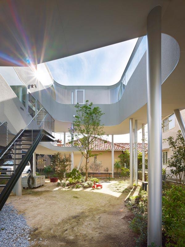 sky high house plans hiroshima 2 Sky High House Plans: Bird's Nest House in Hiroshima