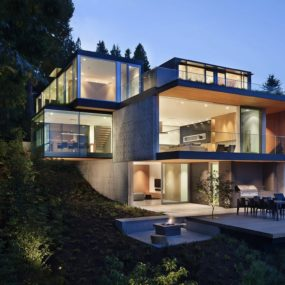 Sleek Slope House With Interior Featuring Concrete