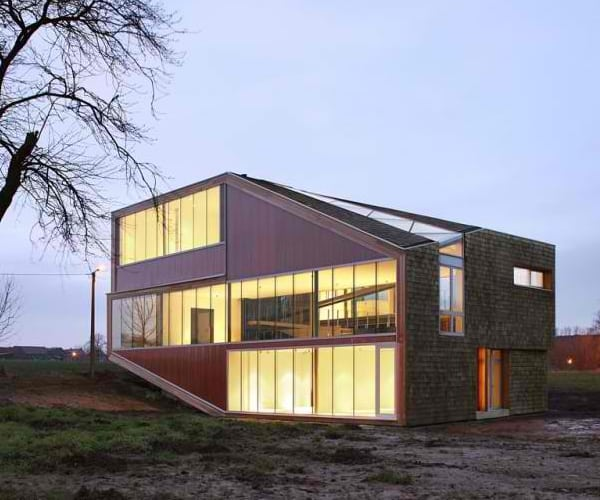 Sloping Roof House Design in Belgium