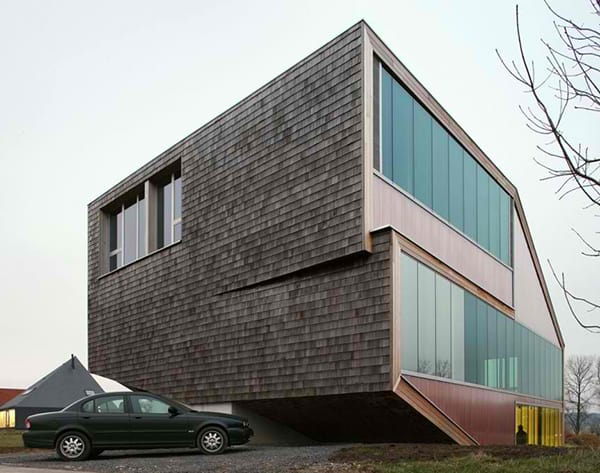 sloping roof house design belgium 2 Sloping Roof House Design in Belgium