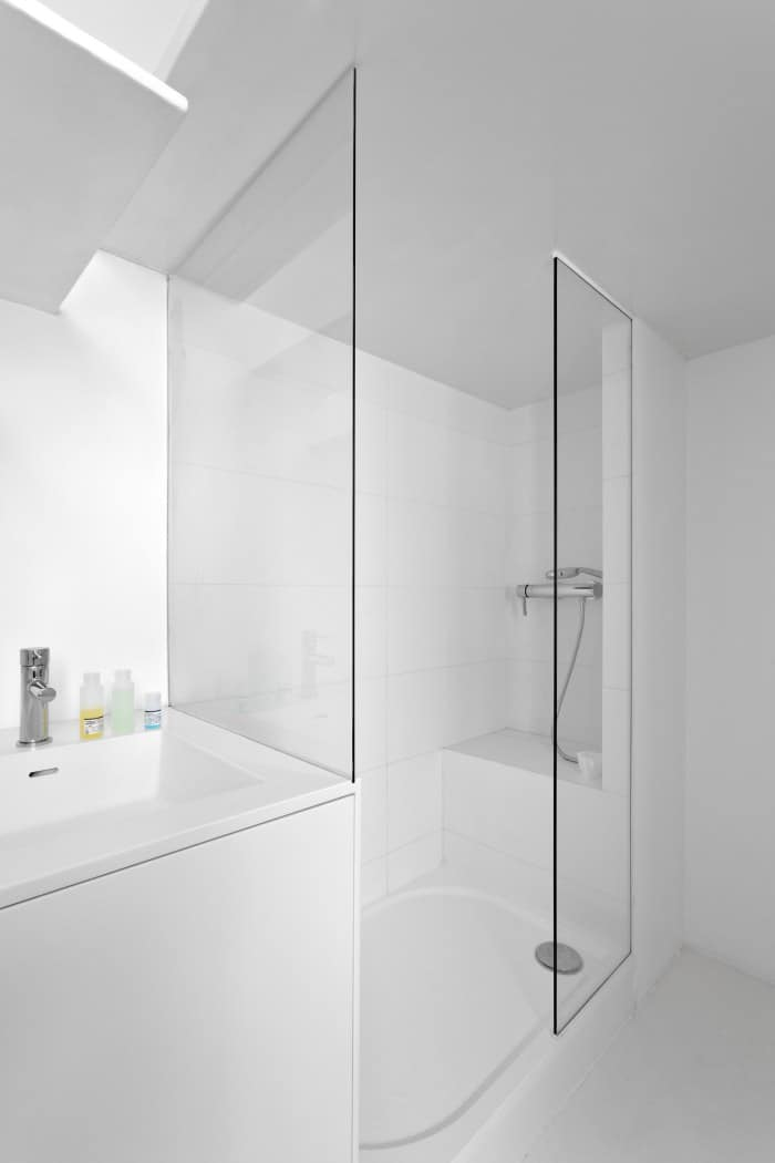 bathroom lighting solutions. View In Gallery Smallfloorplanparisapartmentrenovatedwithmodern Lighting Bathroom Solutions