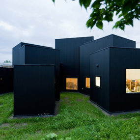 Small House, Big Impact with Black Facade, White Interiors